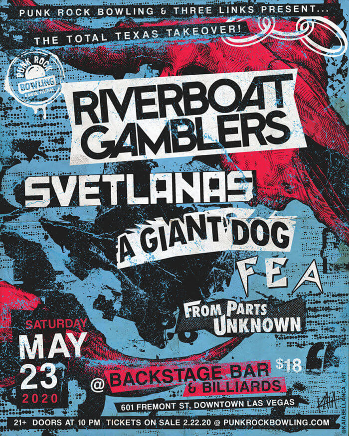 Riverboat Gamblers Svets AGD Punk Rock Bowling