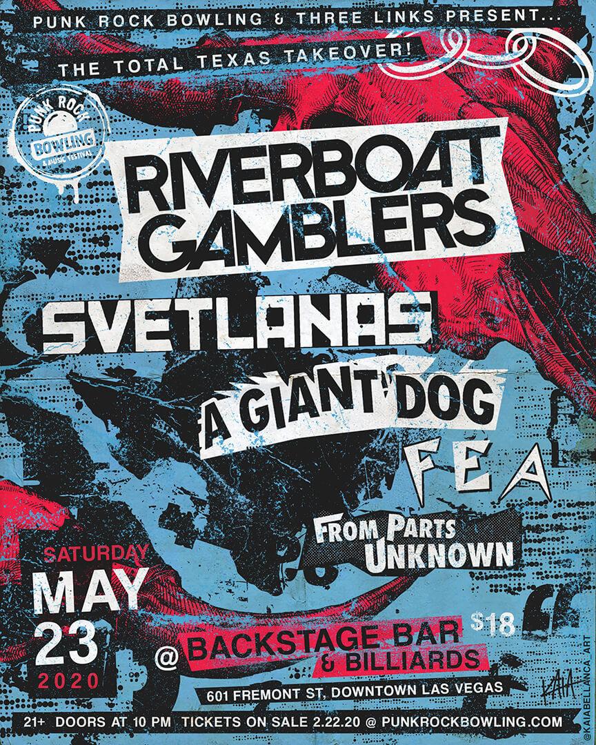 Riverboat Gamblers Svets AGD Punk Rock Bowling