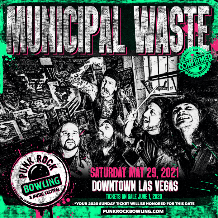 MUNICIPAL WASTE PUNK ROCK BOWLING 2021