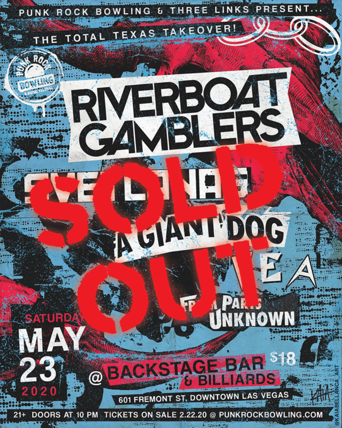 Riverboat Gamblers Svetlanas AGD Punk Rock Bowling 2020 SOLD OUT