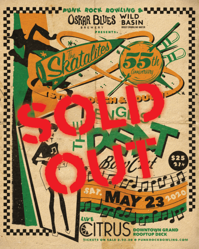 The Skatalites English Beat Punk Rock Bowling 2020 Las Vegas SOLD OUT