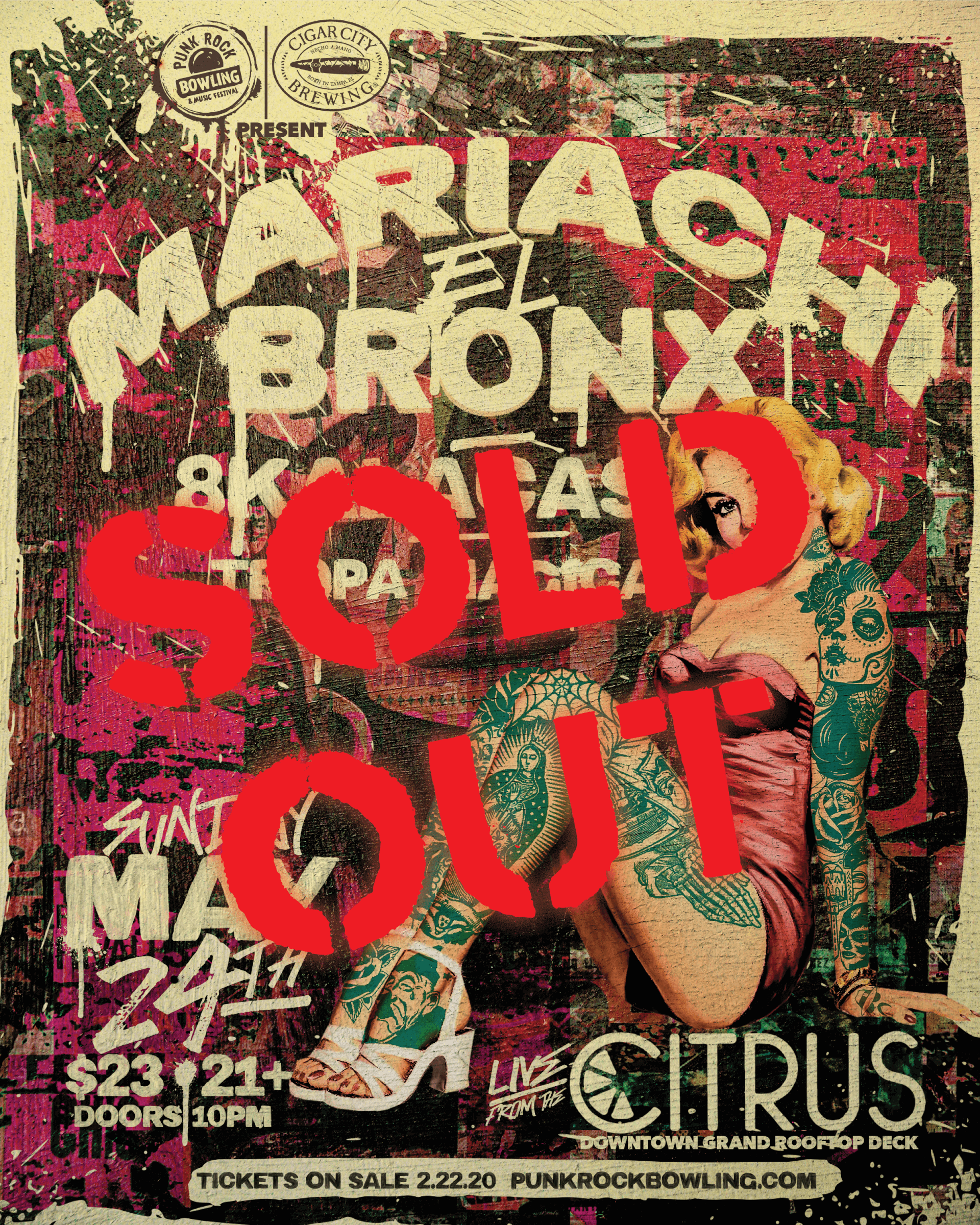 Mariachi-El-Bronx-Punk Rock Bowling 2020 Las Vegas sold out