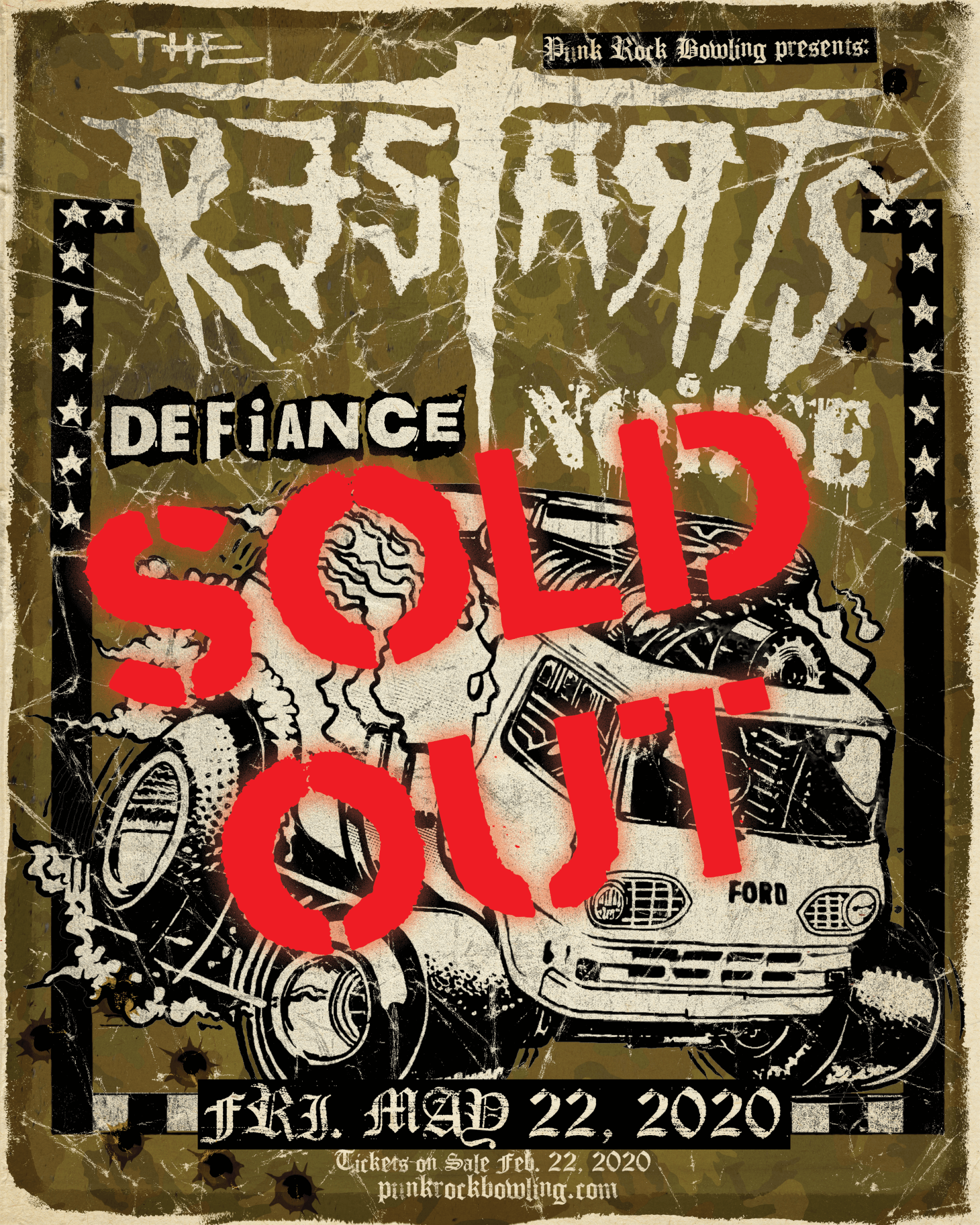 The Restarts Defiance Punk Rock Bowling 2020 Sold Out