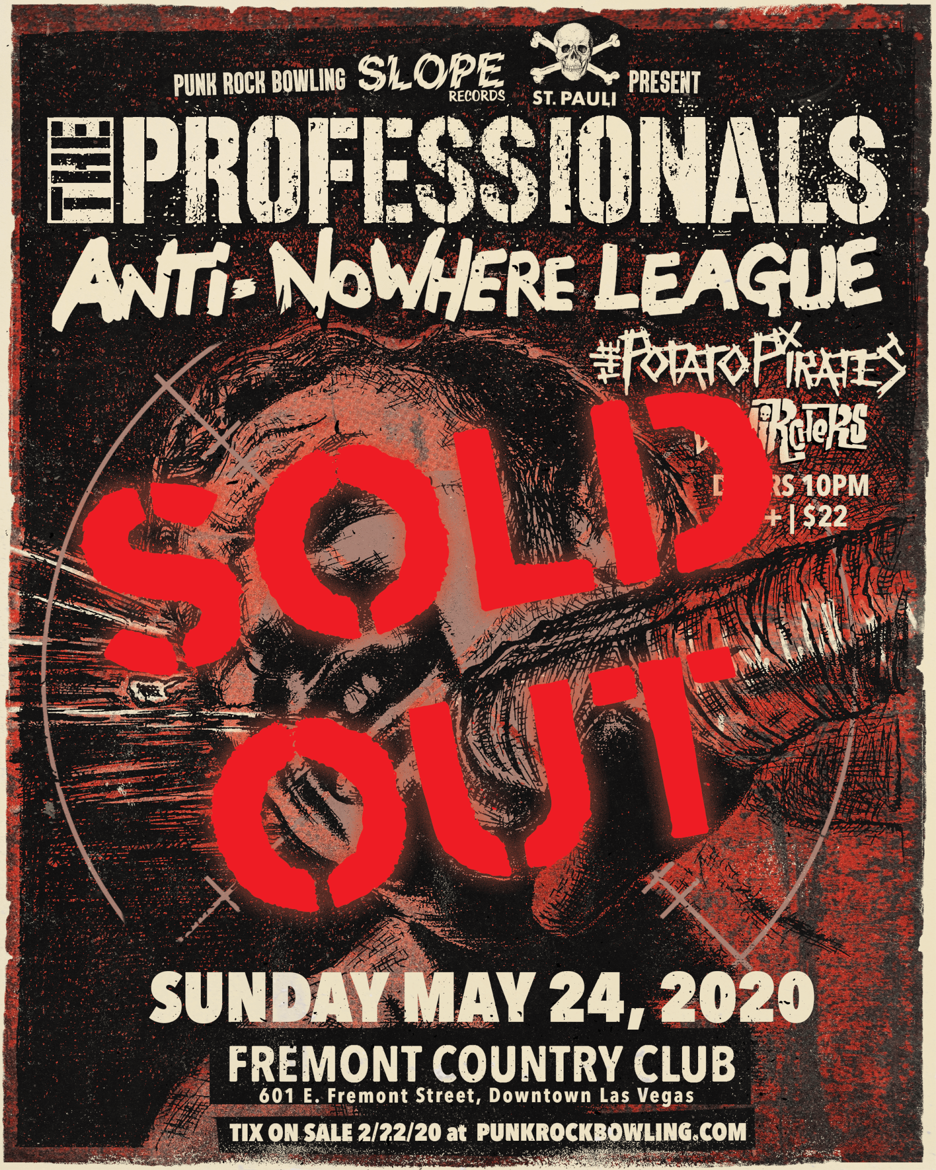 The Professionals, Anti-NoWhere League, Punk Rock Bowling 2020 SOLD OUT
