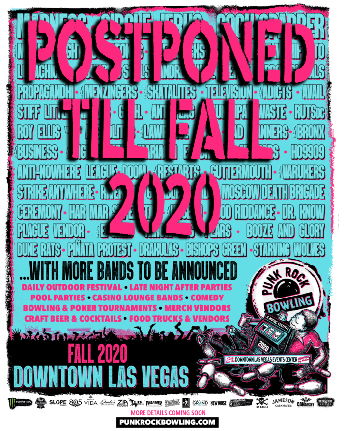 Punk Rock Bowling and Music Festival Fall 2020 Downtown Las Vegas