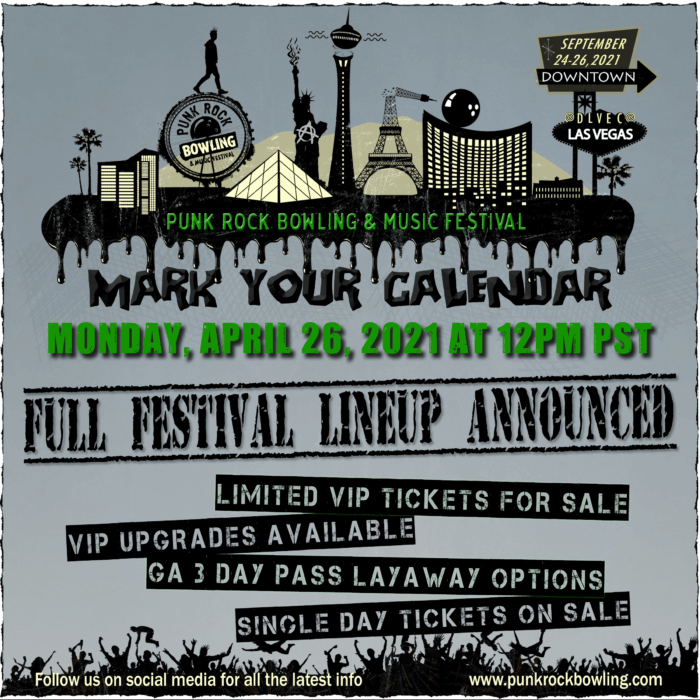 Punk Rock Bowling 2021 Full Fest Lineup TBA April 26