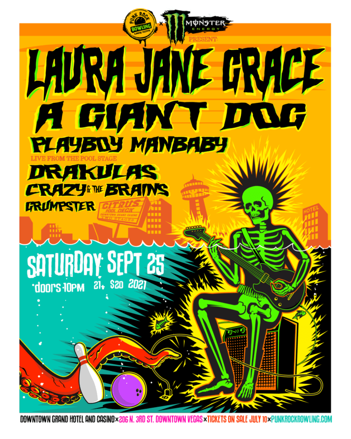 Laura Jane Grace, A Giant Dog, Drakulas, Playboy Manbaby, Crazy & the Brains Punk Rock Bowling 2021 After Party