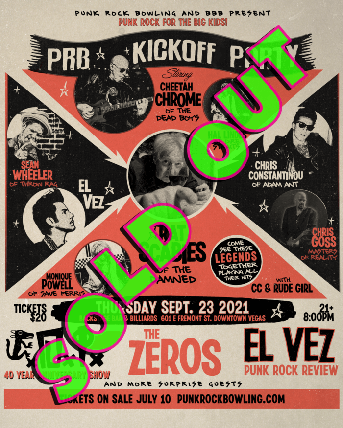 Punk Rock All Star Show Punk Rock Bowling 2021 After Party SOLD OUT