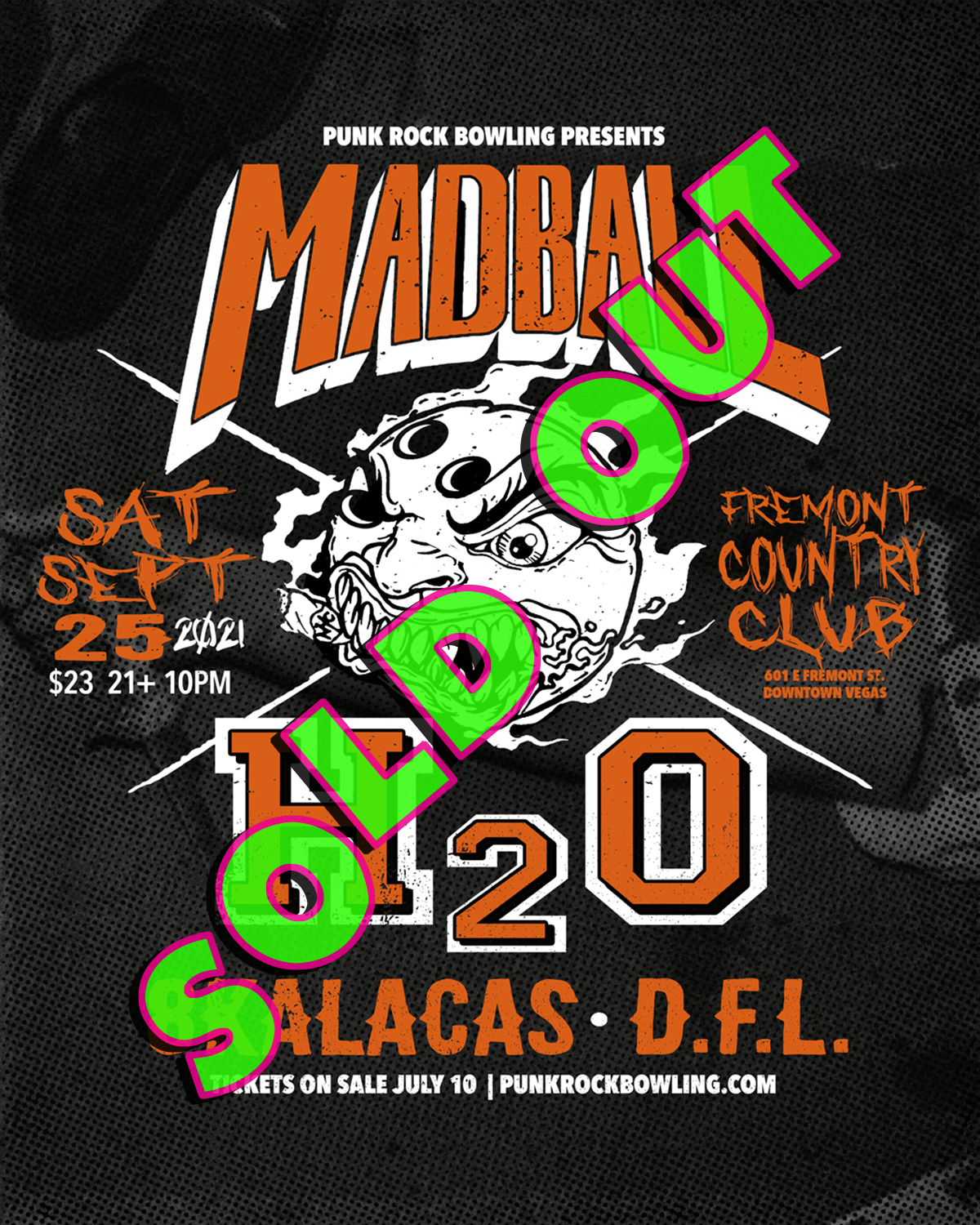Madball, H2O, 8 Kalacas, DFL Punk Rock Bowling 2021 After Party Sold Out