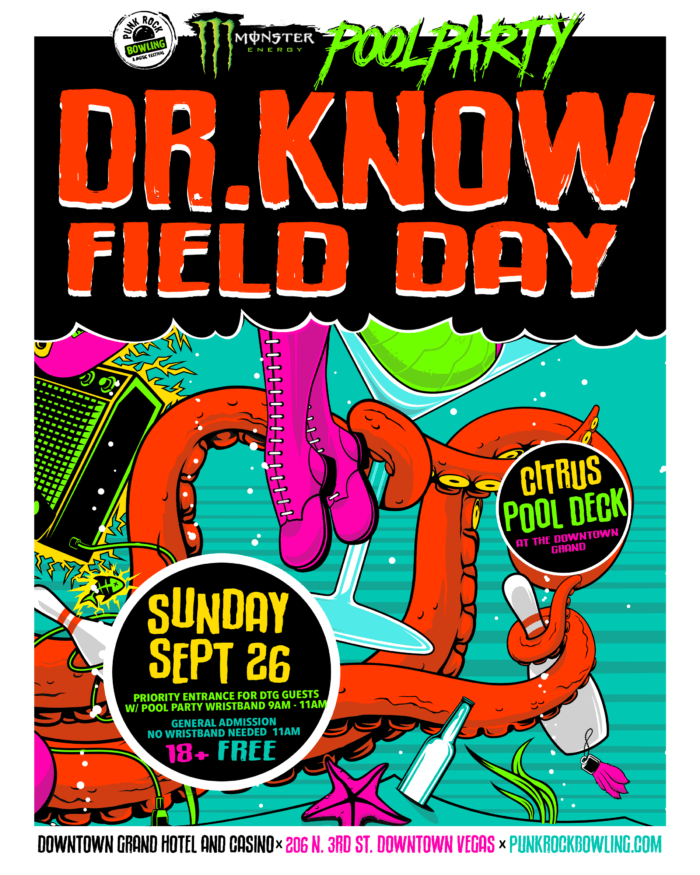 PUNK ROCK BOWLING 2021 POOL PARTY DR. KNOW W/ FIELD DAY DOWNTOWN GRAND HOTEL AND CASINO