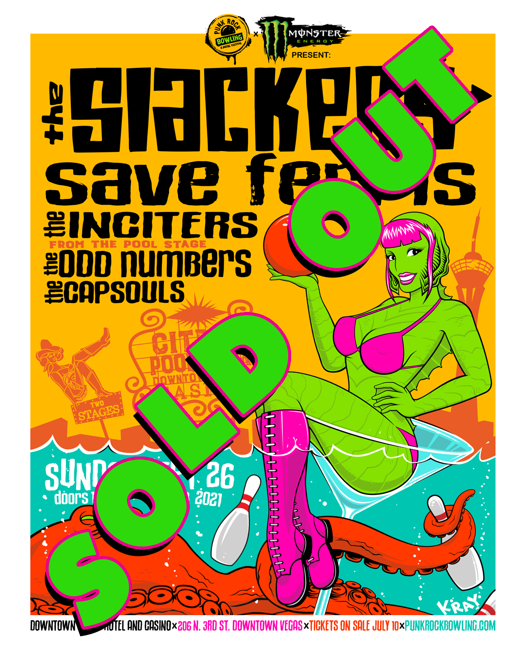 The Slackers Save Ferris The Inciters The Odd Numbers Punk Rock Bowling 2021 After Party Downtown Las Vegas Sold Out