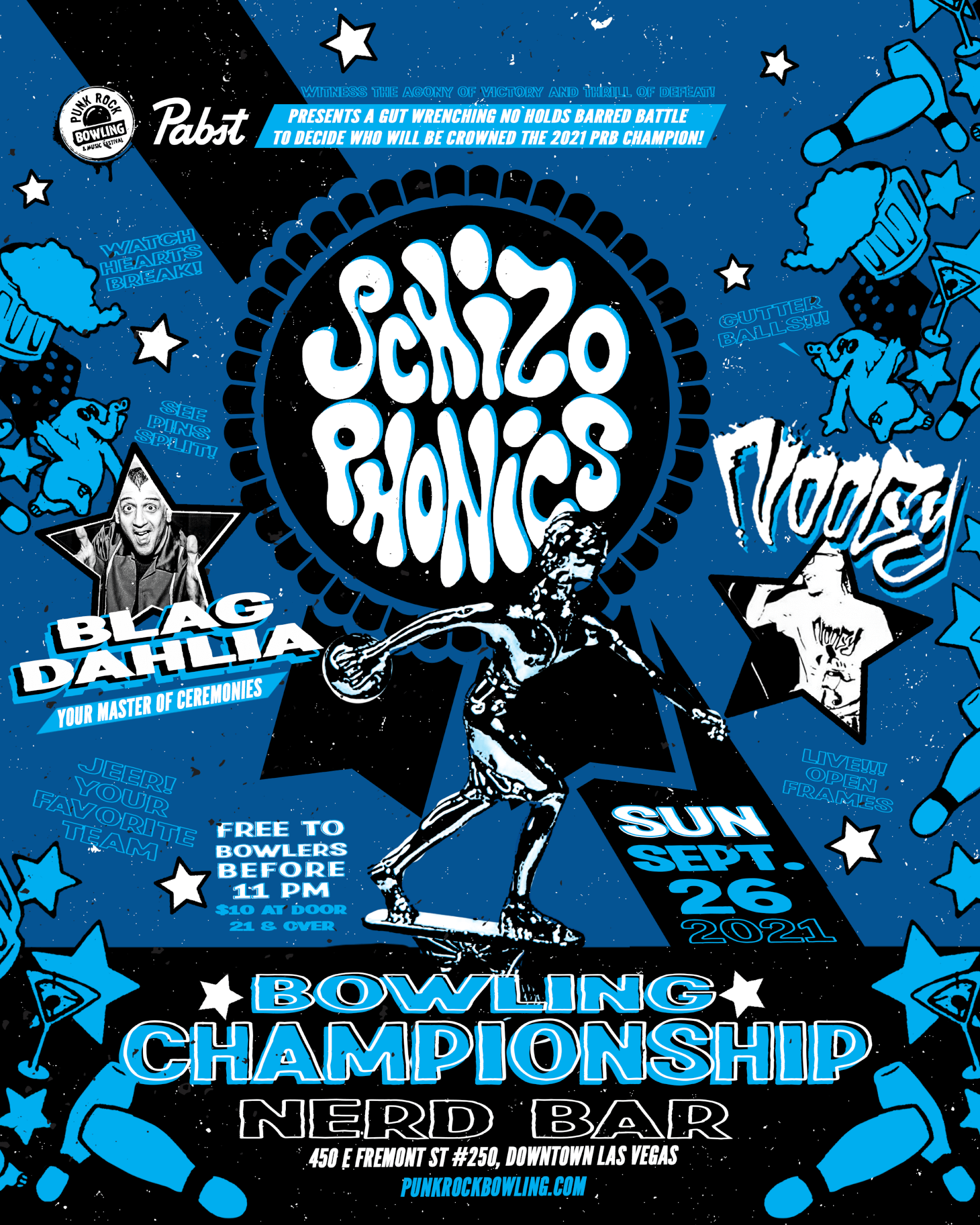 the schizophonics, noogy and blag, punk rock bowling championship party