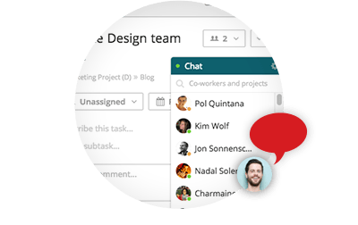 Chat window - Online Project Management Software & Collaboration Tools