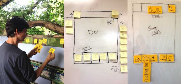 Redbooth employees took part in a design exercise