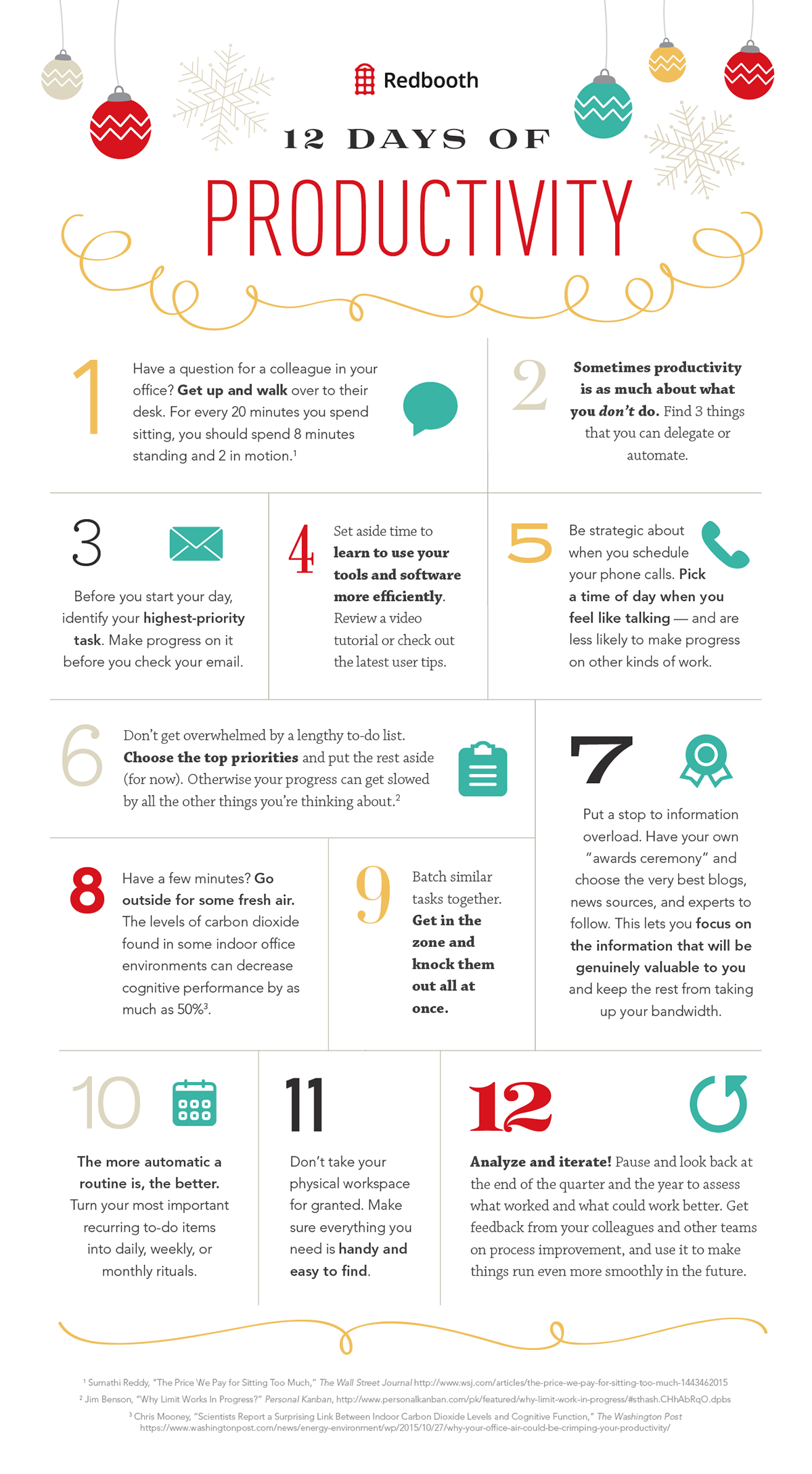 12 Days of Productivity infographic