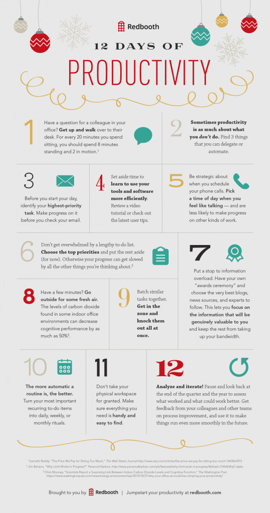 12 Days of Productivity (infographic)