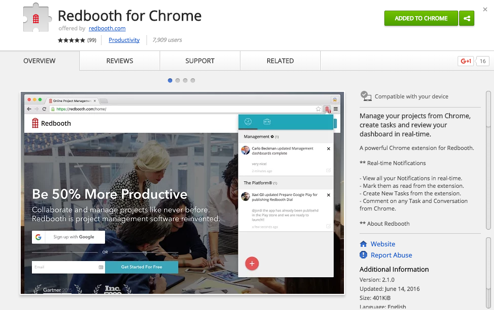 Do You Have the Redbooth Chrome Extension Yet?