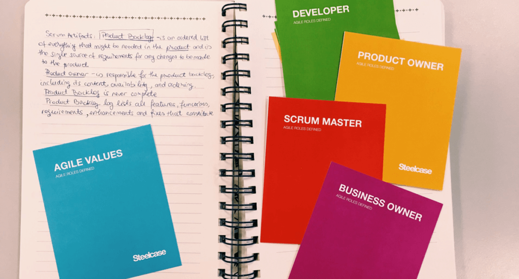 scrum cards for explaining agile project management