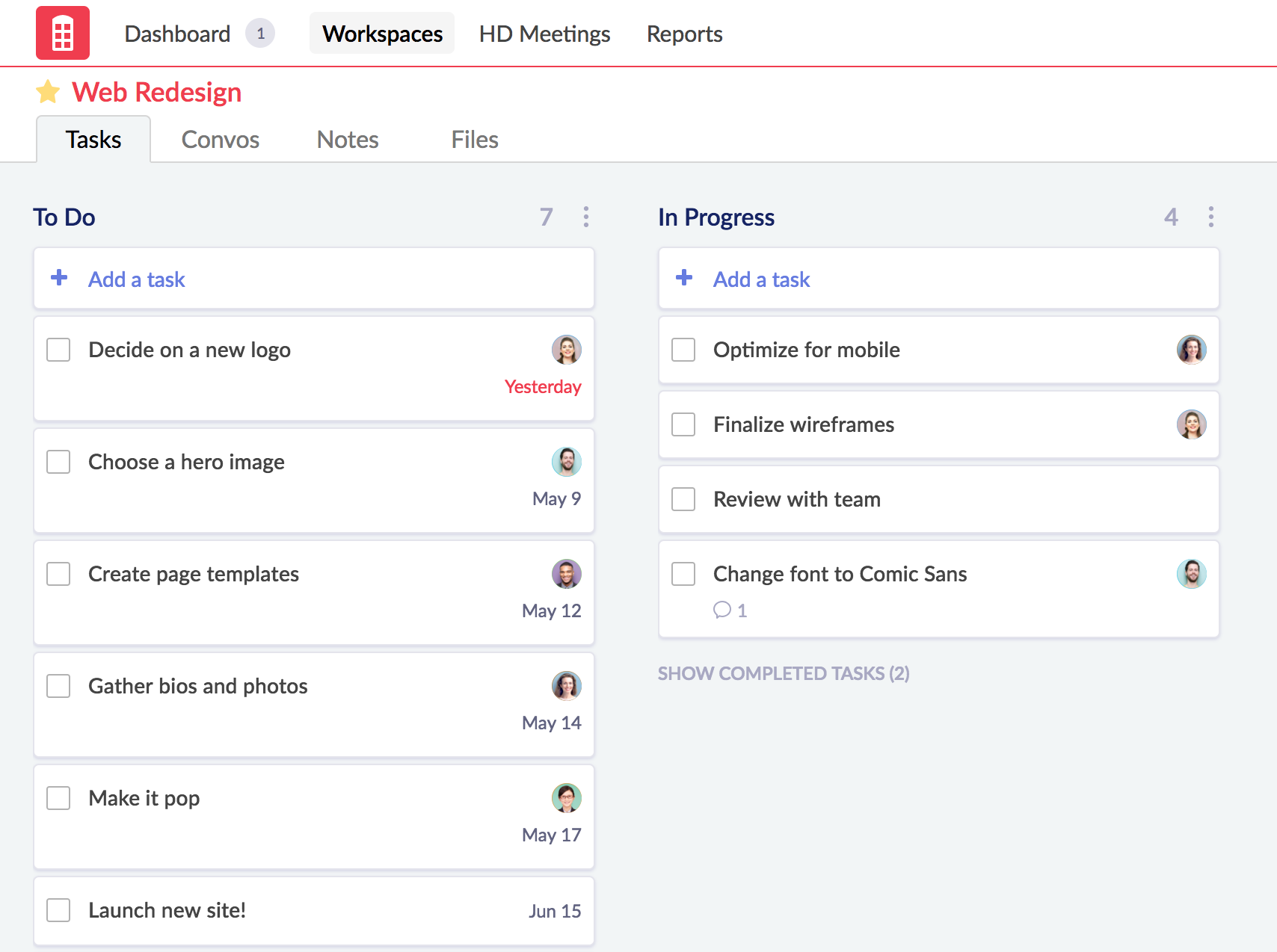 Task management software - Redbooth Task and Project Management: Product Tour