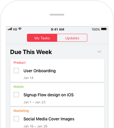 Android and iOS apps - Redbooth Task and Project Management: Product Tour