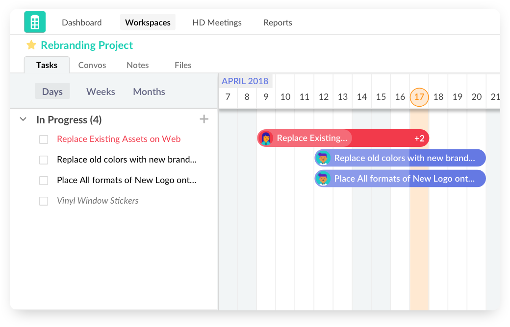 Gantt charts - Redbooth Press Kit: Online Task and Project Management Software