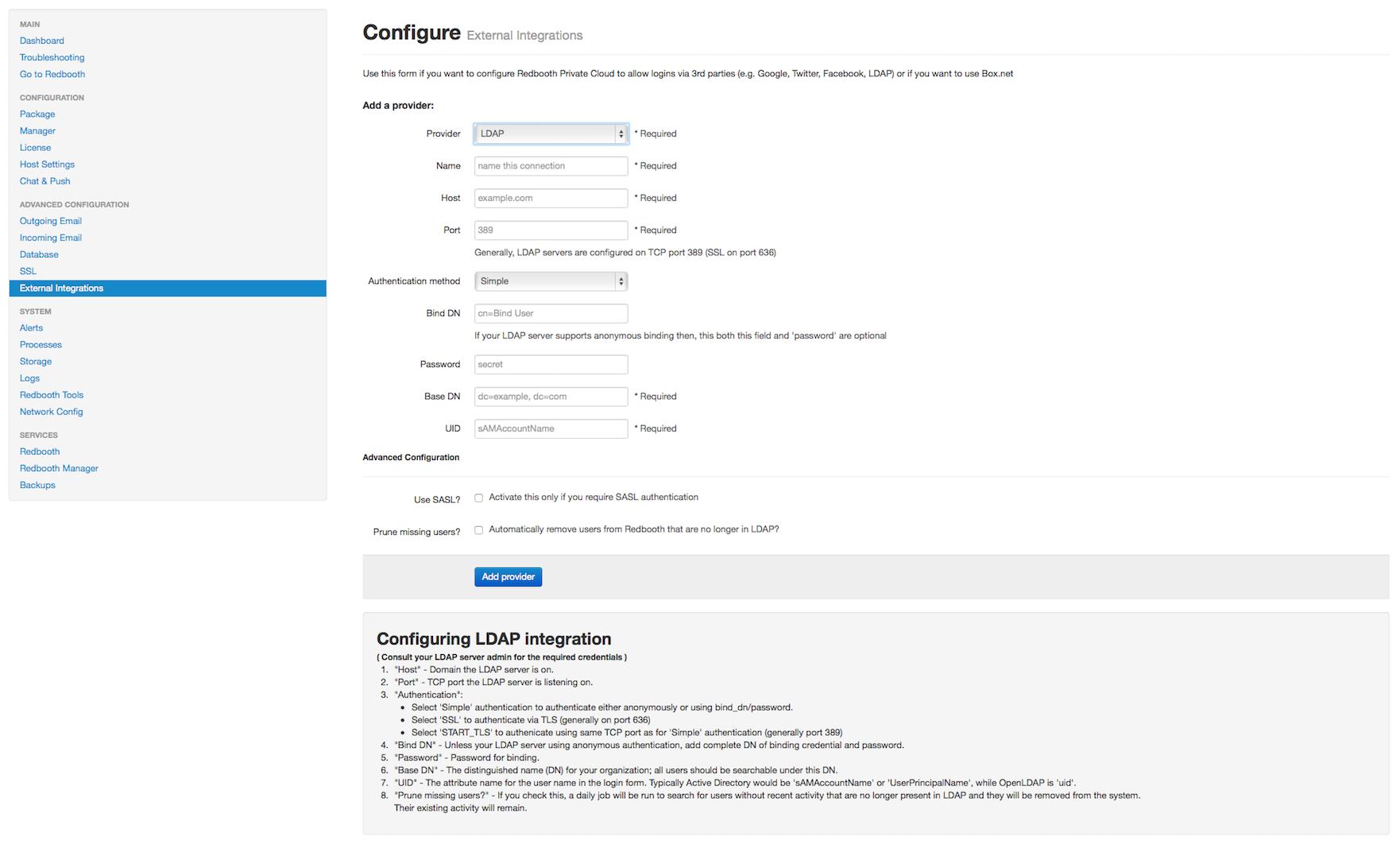 LDAP-Authentication