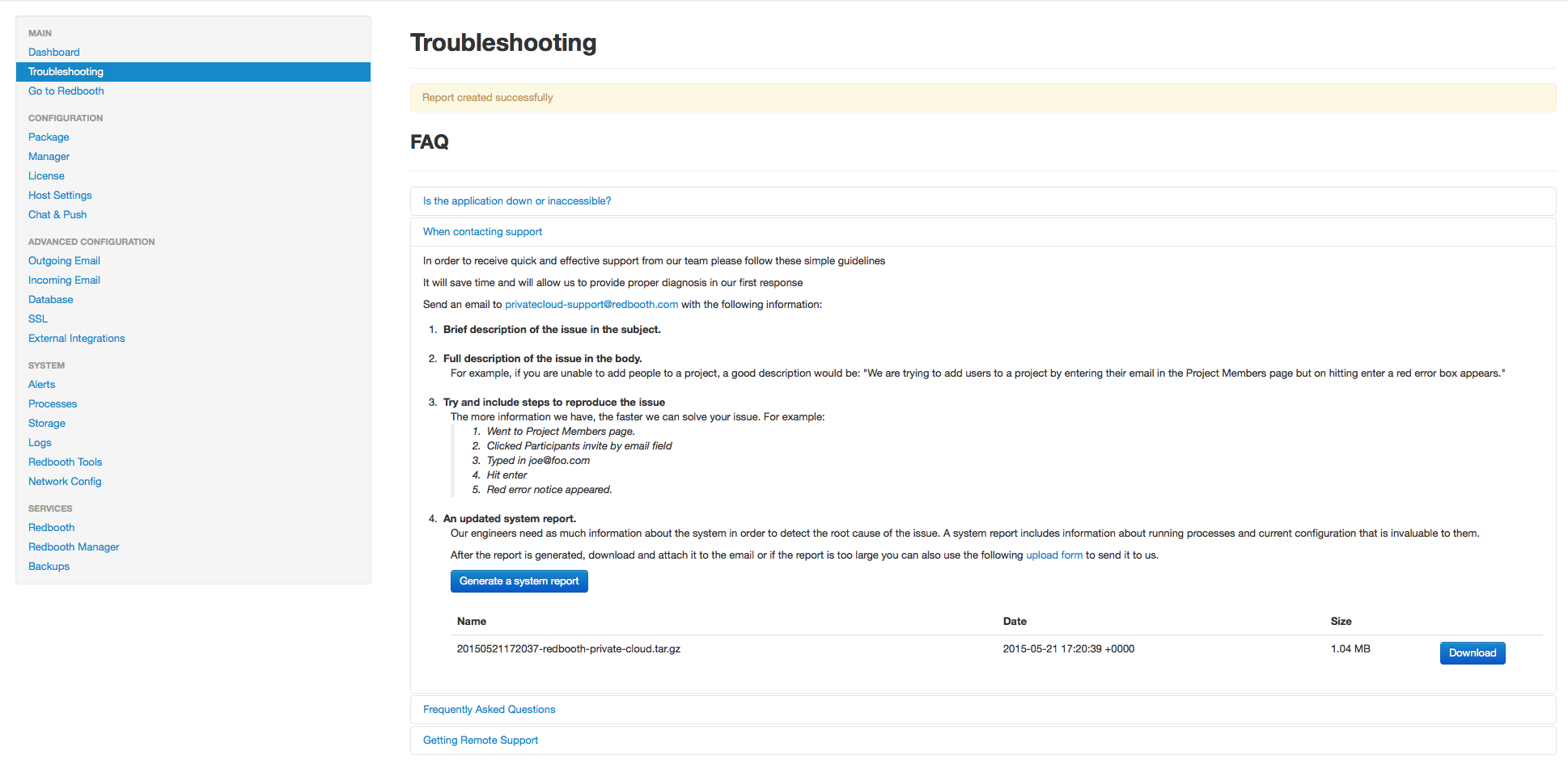Requesting Private Cloud Remote Support