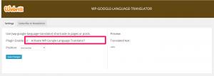 WP Google Language Translator