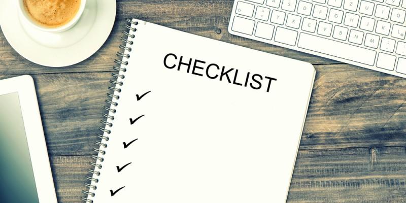 La checklist du développeur Web