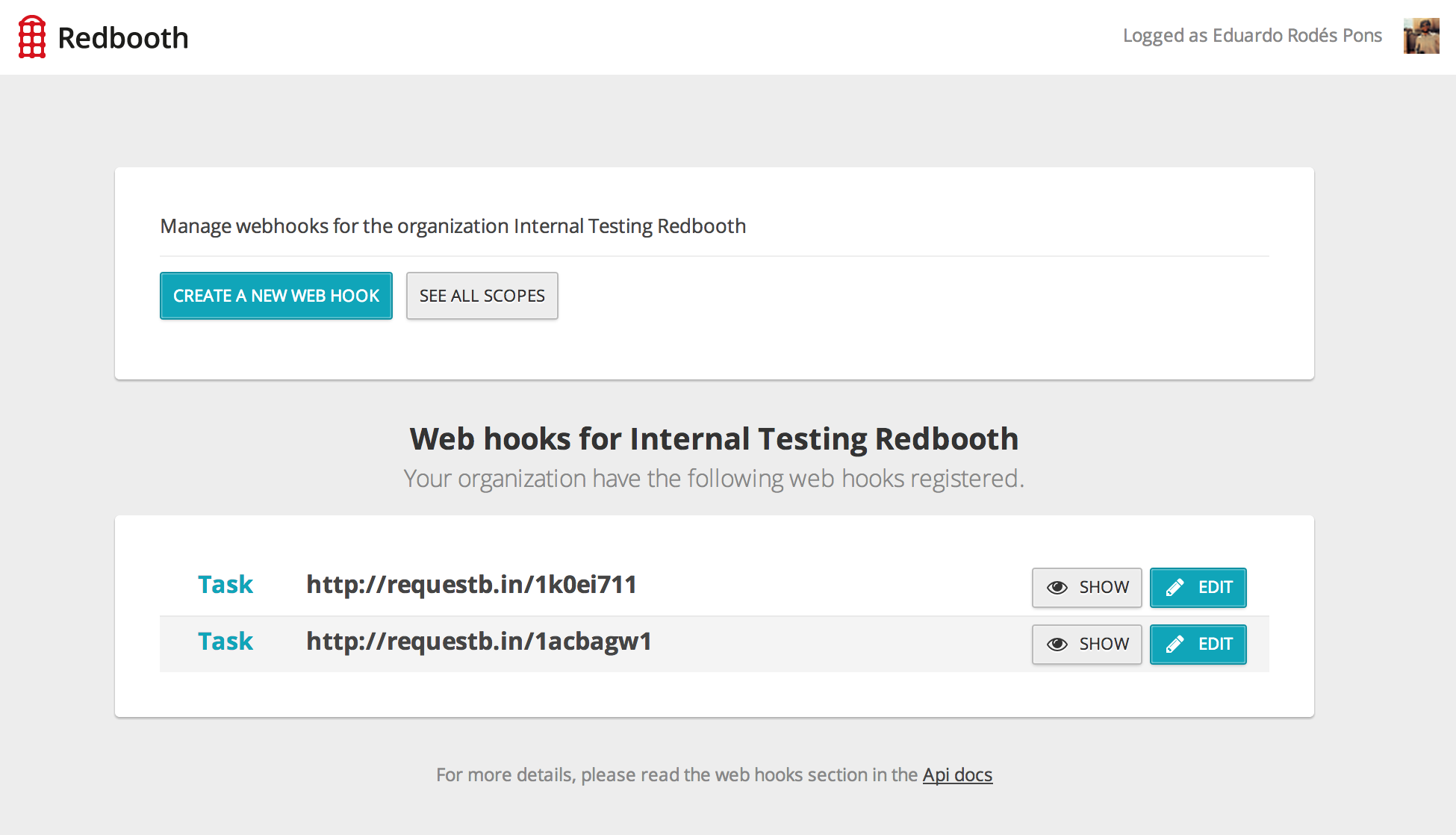 Web hooks 3