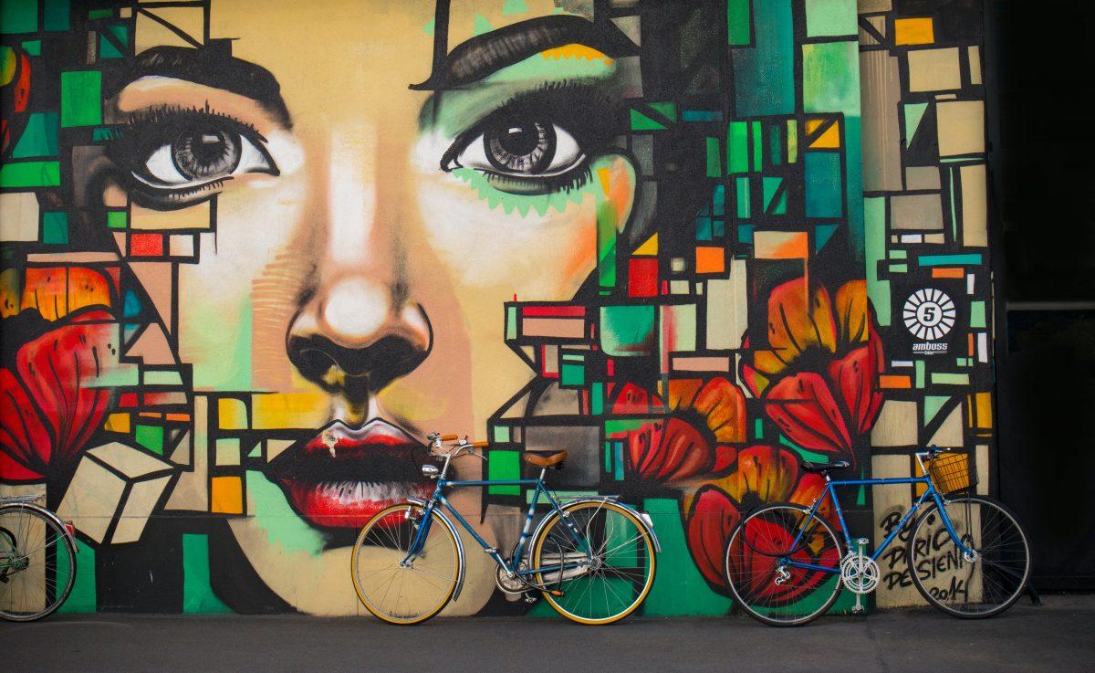 Beautiful art display in downtown