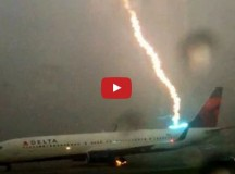 Delta Plane Gets Struck by Lightening! Caught on Film!