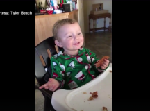 Baby Eats Bacon for the First Time and His Reaction? Priceless