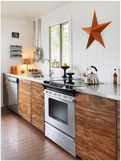 Kitchens With Wood Paneling: How To Install Paneling