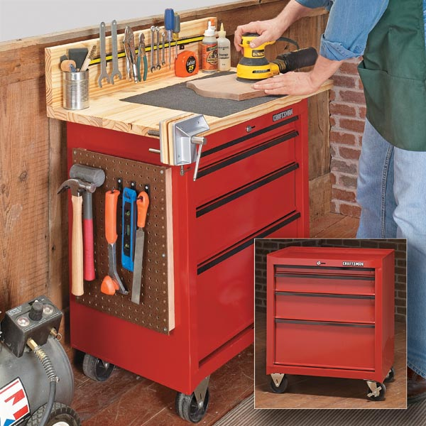 Do It Yourself Garage Workbench Plans: Woodwork Workbench Plans With Cabinets PDF Plans