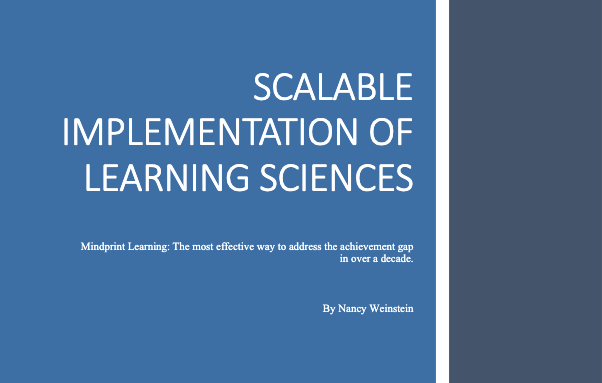 Thumbnail for Scalable Implementation of the Learning Sciences white paper.