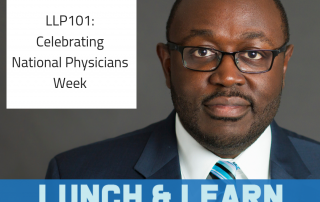 national physicians week, lunch and learn, dr berry pierre