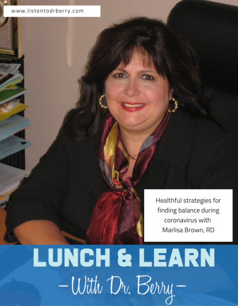 Nutrition, marlisa brown, lunch and learn