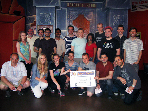 The Thalmic group after a pretty competitive round of laser tag.