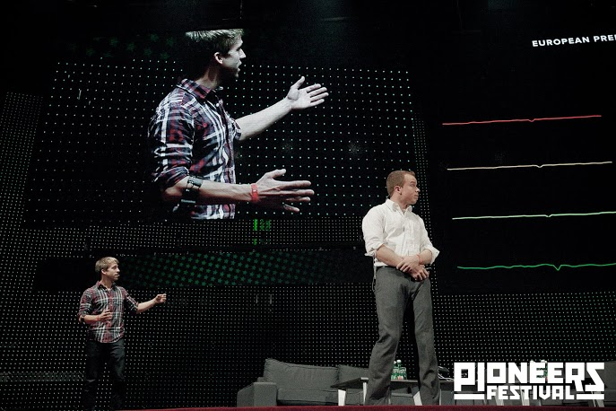 Click the image to watch this live demo from the Pioneers Festival.