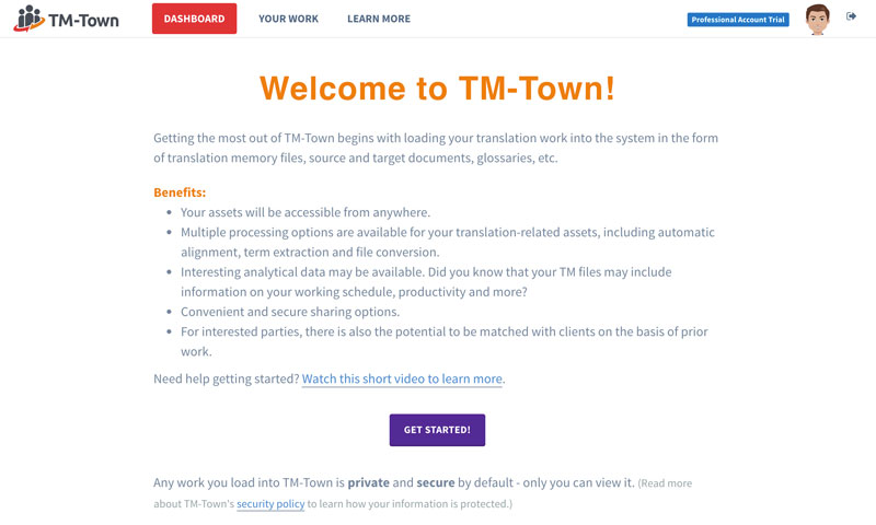 Uploading Files to TM-Town (video screencast)