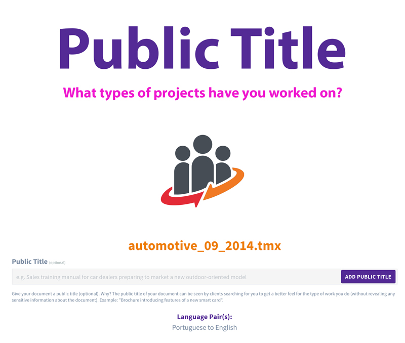 Give Your Documents a Public Title