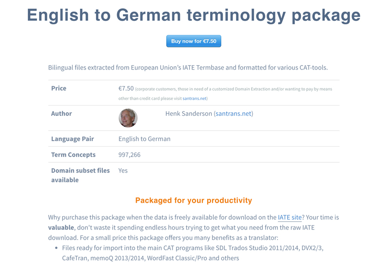 Purchase TM-Town Terminology Marketplace Glossaries