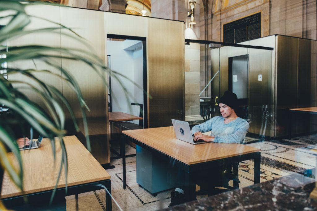 boy in office