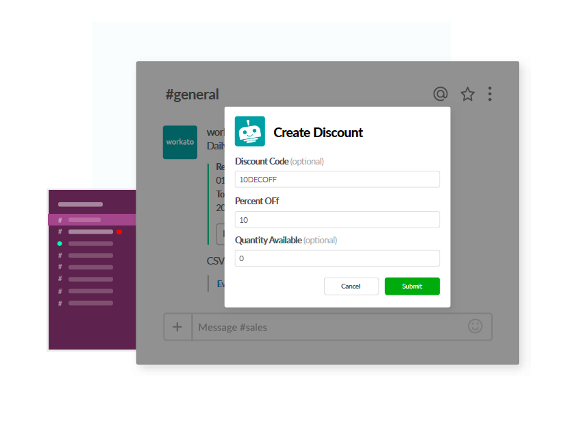 Create Eventbrite Discount in Slack