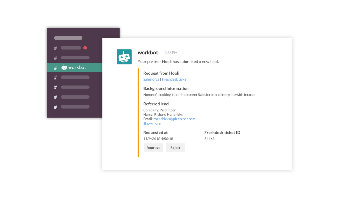 Workbot saves our BD and sales team 30 minutes of work per lead.