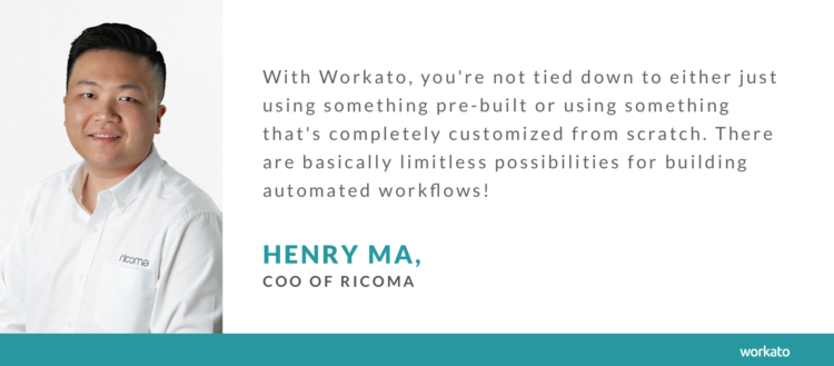 Ricoma relies on intelligent automation to streamline its accounting.