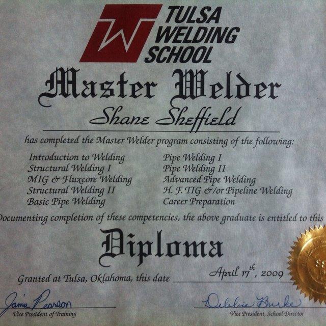 Tulsa Welding School Workhands