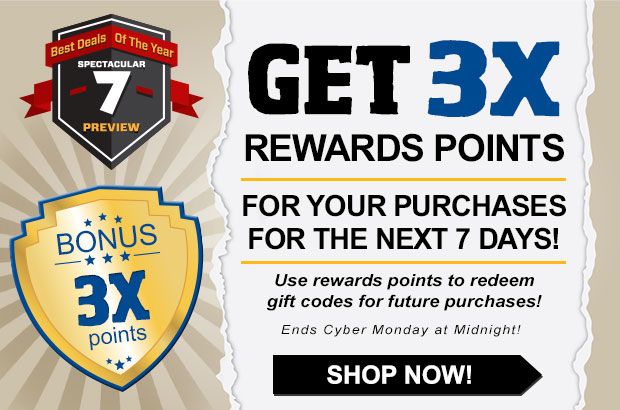 This Week Get 3x Rewards Points On All Purchases + FREE Shipping On $99!