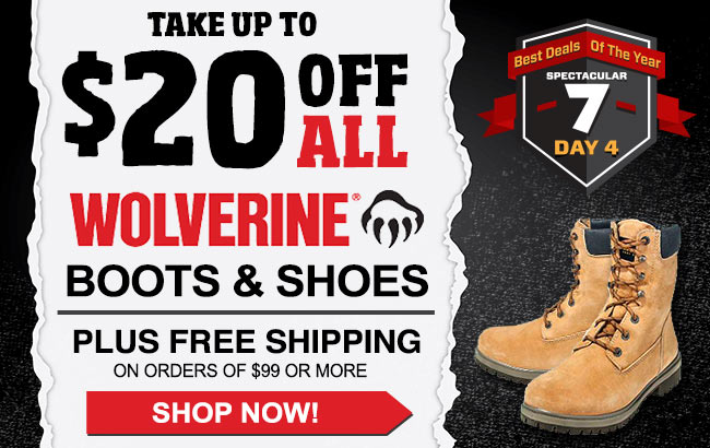 Take Up To $20 Off Wolverine Boots/Shoes + FREE Shipping!